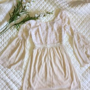 Flying Tomato cream lace dress